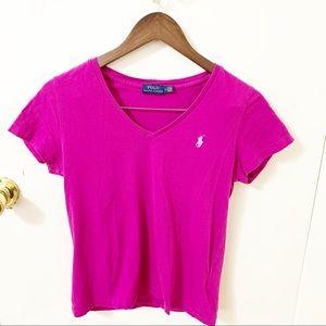 5/$25 Polo Ralph Lauren V neck Tee shirt Medium